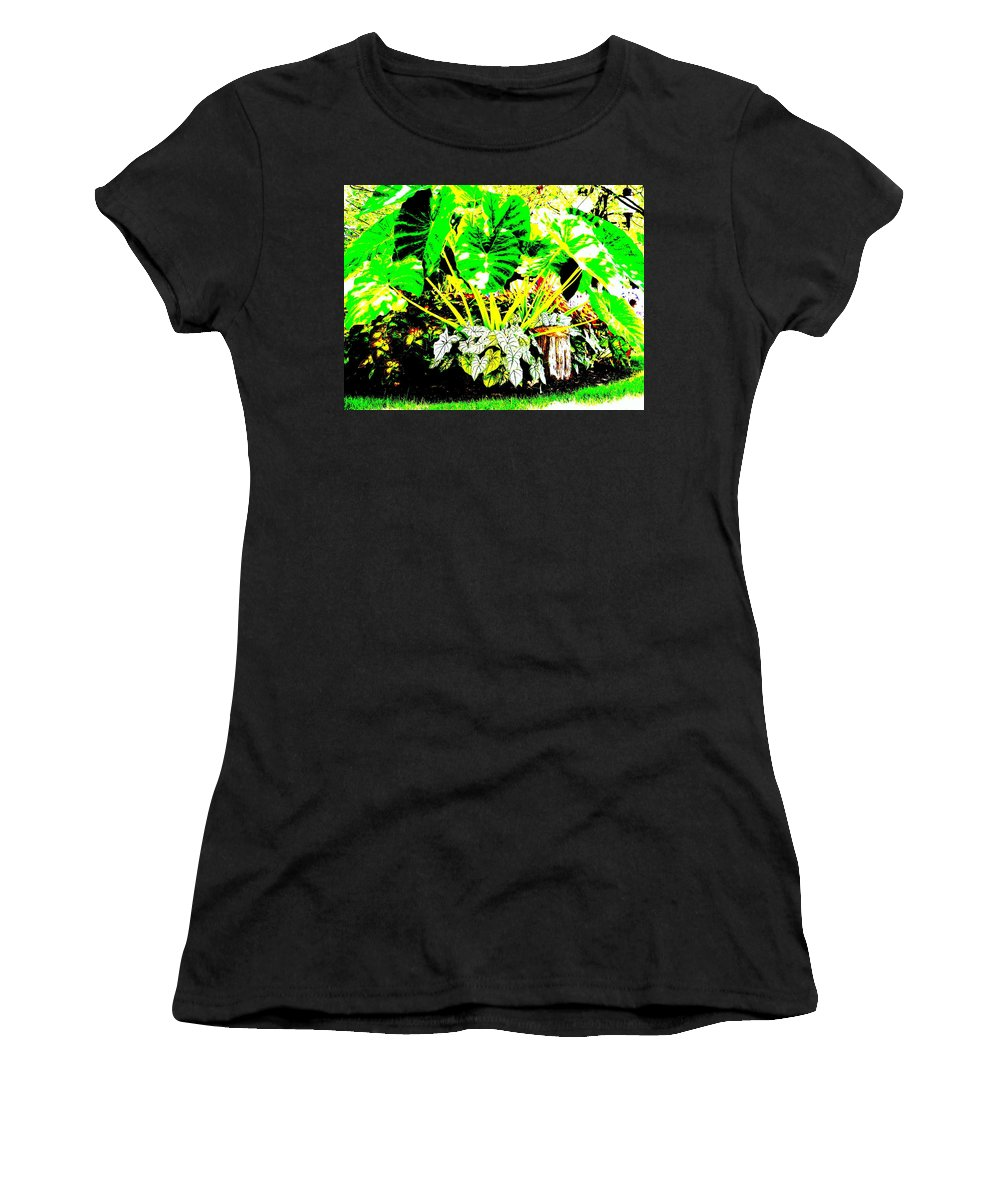 Plants Women's T-Shirt (Athletic Fit) featuring the photograph Lush Garden by Ed Smith