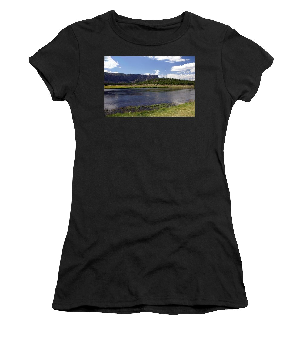 Madison River Women's T-Shirt (Athletic Fit) featuring the photograph Madison River Valley by Marty Koch