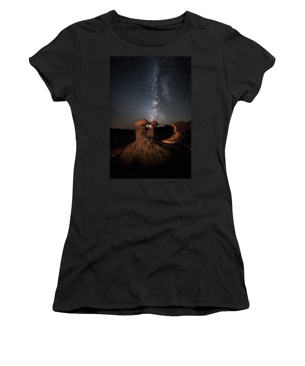 Hoodoo Women's T-Shirt (Athletic Fit) featuring the photograph Magic Shrooms by James Bailey