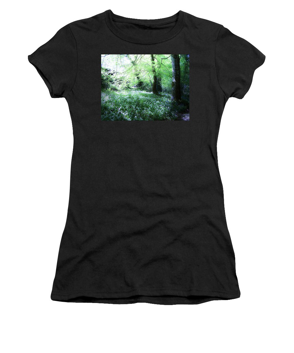Irish Women's T-Shirt (Athletic Fit) featuring the photograph Magical Forest At Blarney Castle Ireland by Teresa Mucha
