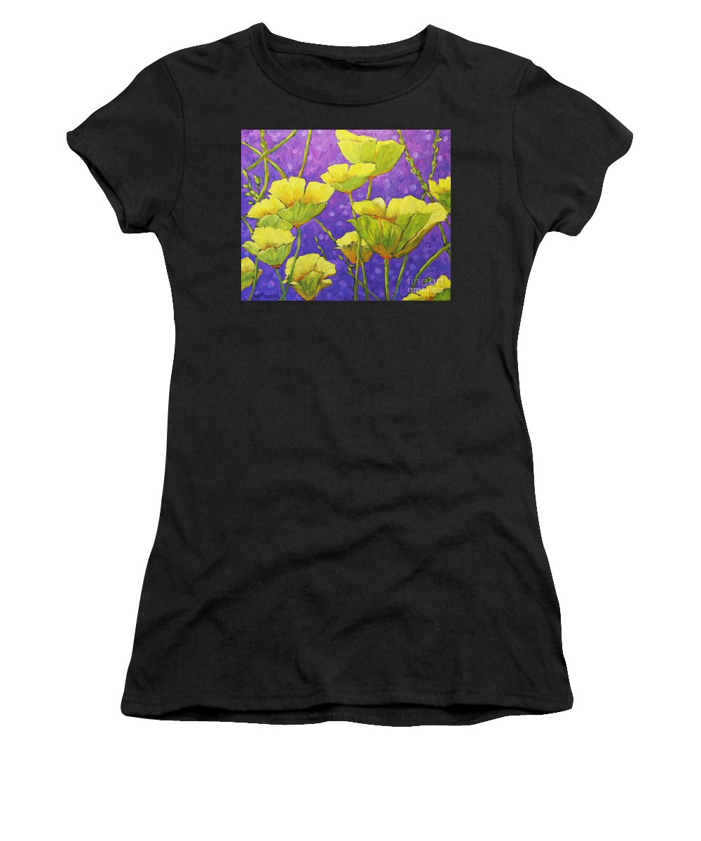 Artist Painter Women's T-Shirt (Athletic Fit) featuring the painting Magical Light by Richard T Pranke