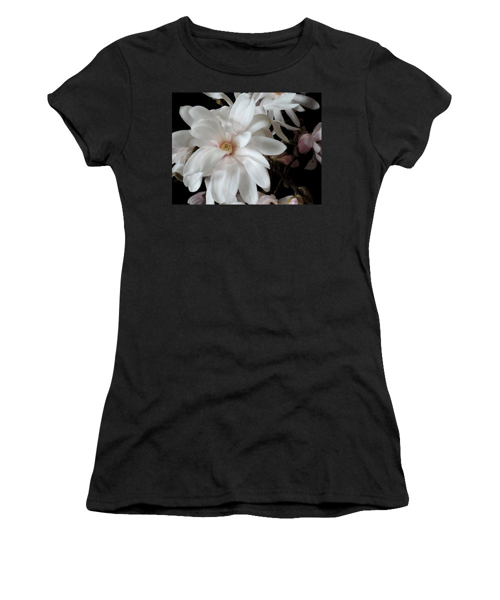 Magnolia Women's T-Shirt (Athletic Fit) featuring the photograph Magnolia Flower by Guido Strambio