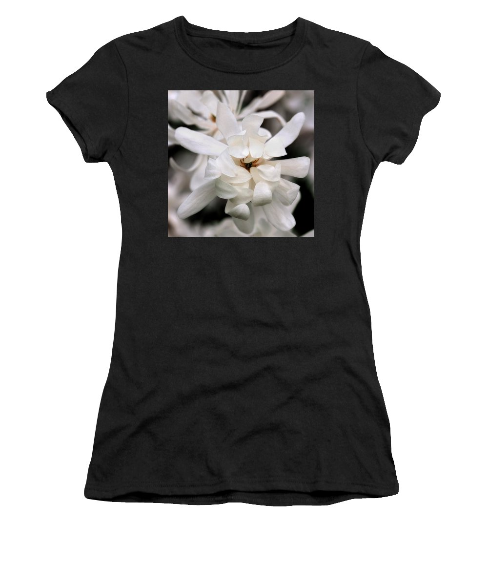 Flower Women's T-Shirt (Athletic Fit) featuring the photograph Magnolia Square by Angela Rath