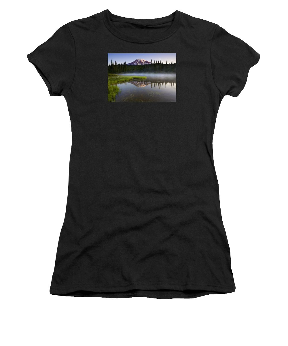 Lake Women's T-Shirt (Athletic Fit) featuring the photograph Majestic Dawn by Mike Dawson