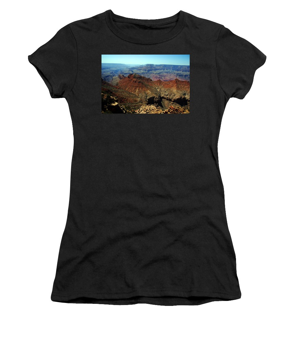 Grand Canyon Women's T-Shirt (Athletic Fit) featuring the photograph Majestic View by Susanne Van Hulst