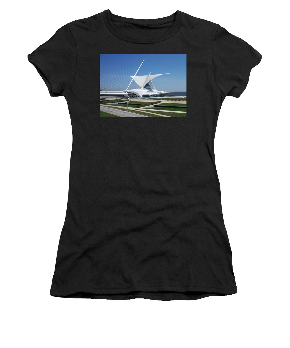 Mam Women's T-Shirt (Athletic Fit) featuring the photograph Mam Caltrava by Anita Burgermeister