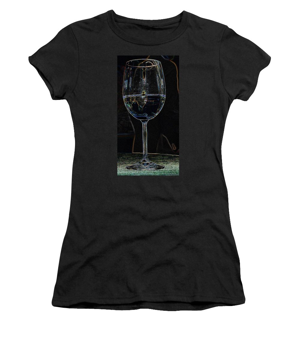 Wine Women's T-Shirt (Athletic Fit) featuring the photograph Man In A Glass by Ian MacDonald