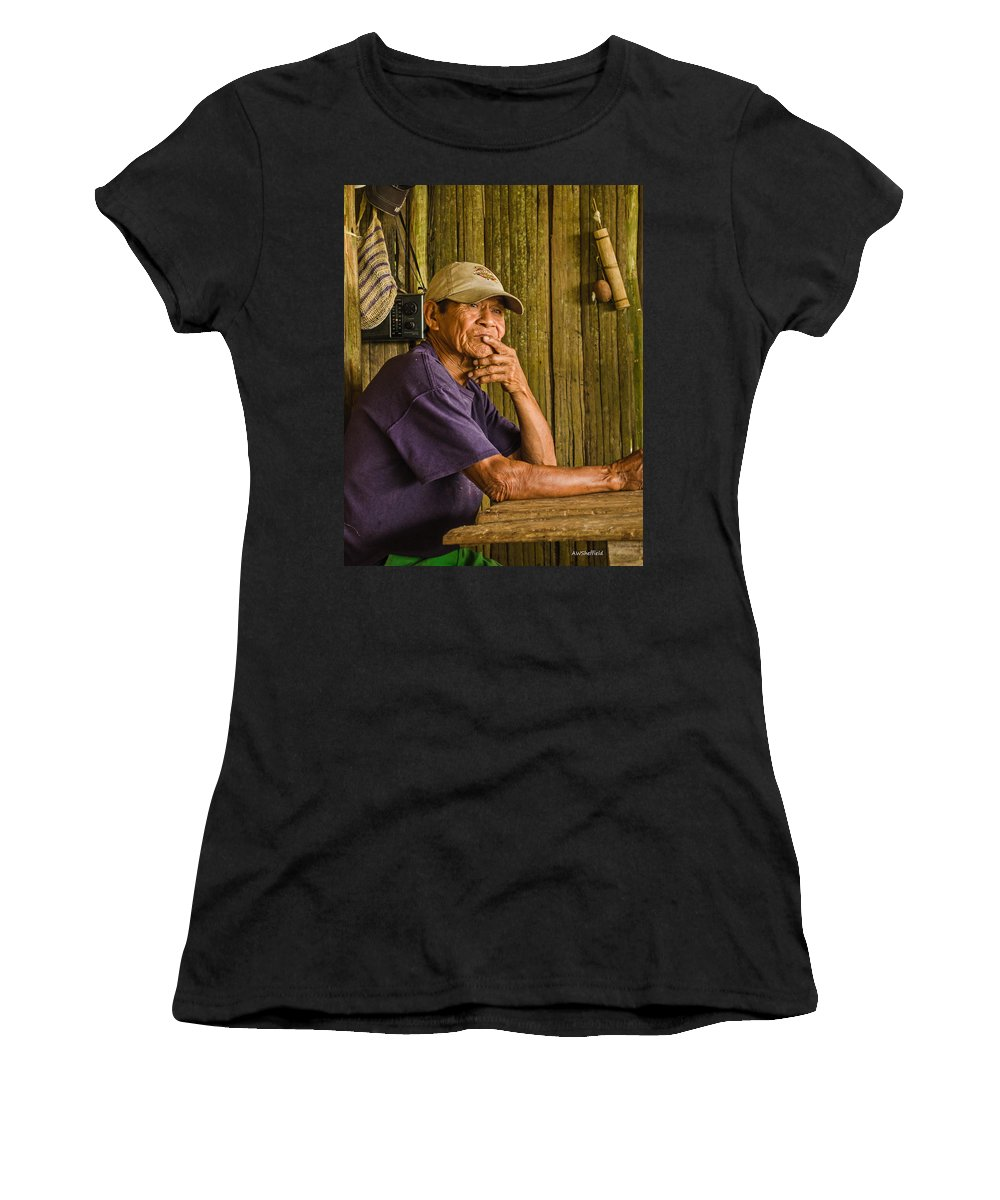 Peru Women's T-Shirt (Athletic Fit) featuring the photograph Man Of The House by Allen Sheffield