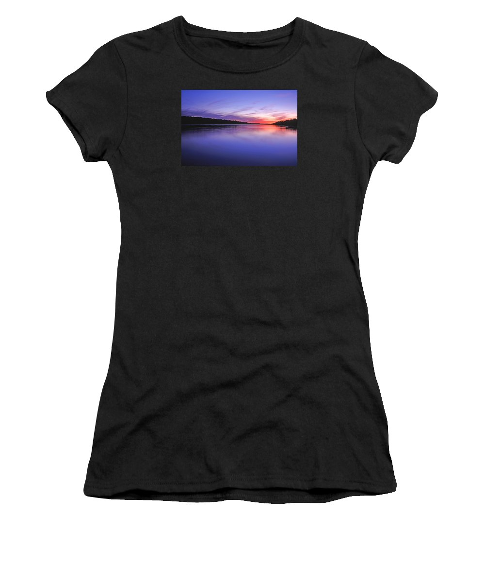 Landscape Women's T-Shirt (Athletic Fit) featuring the photograph Manidooziibi by Bill Morgenstern