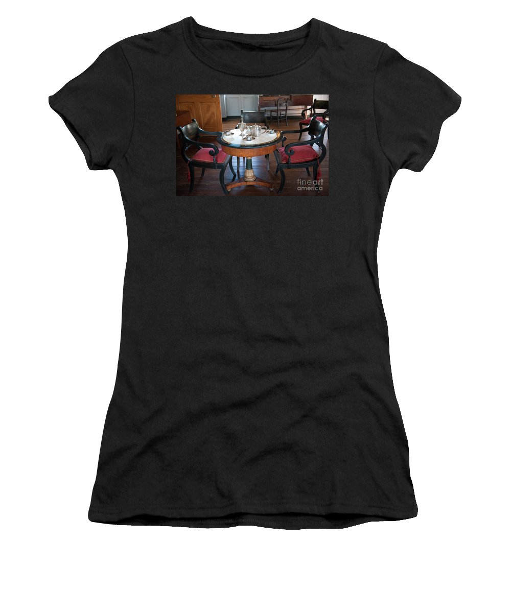 The Joseph Manigault House Women's T-Shirt (Athletic Fit) featuring the photograph Manigault Dining by Dale Powell