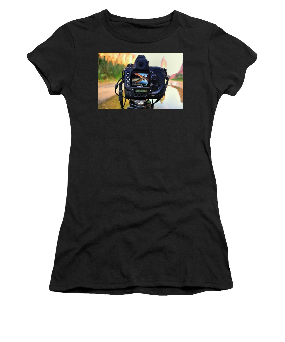 Women's T-Shirt (Athletic Fit) featuring the photograph Manocherian by Joshu