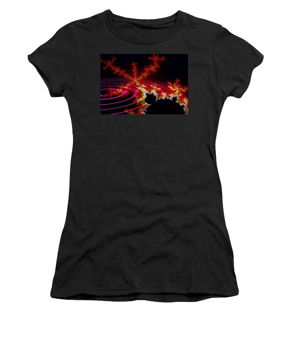 Fractal Women's T-Shirt (Athletic Fit) featuring the digital art Mantis by Robert Orinski