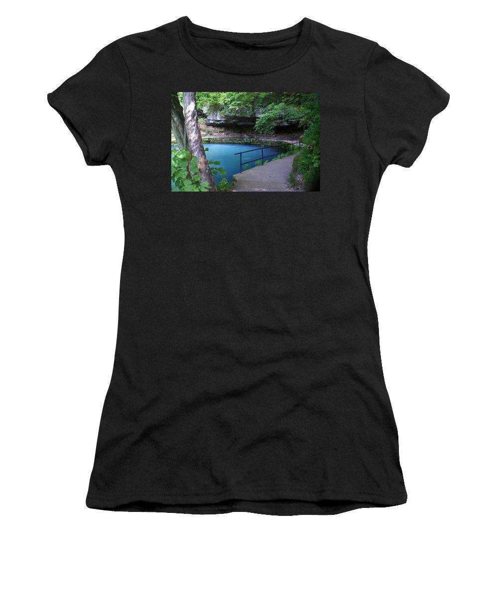 Maramec Springs Park Women's T-Shirt featuring the photograph Maramec Springs 3 by Marty Koch