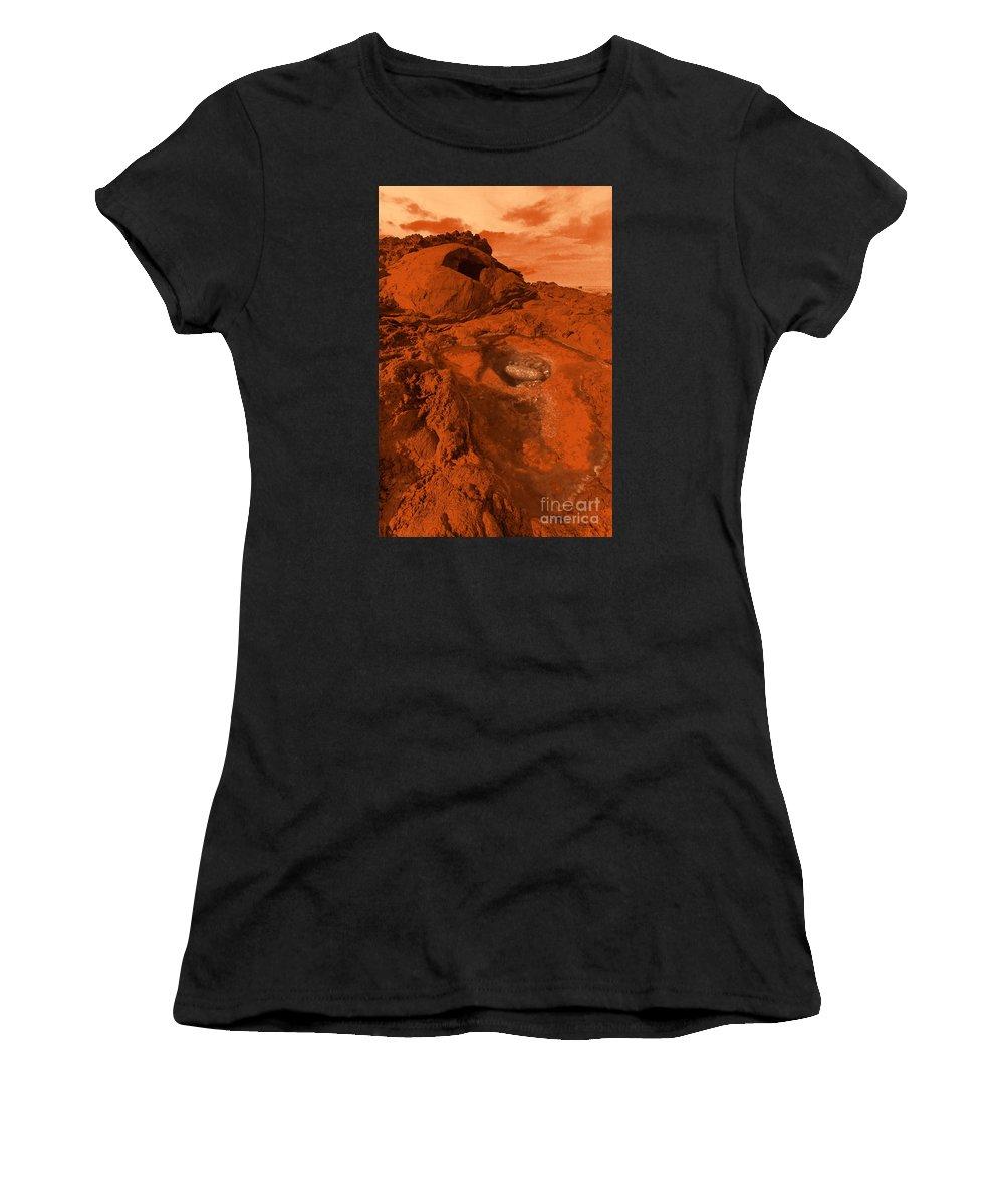 Alien Women's T-Shirt (Athletic Fit) featuring the photograph Mars Landscape by Gaspar Avila