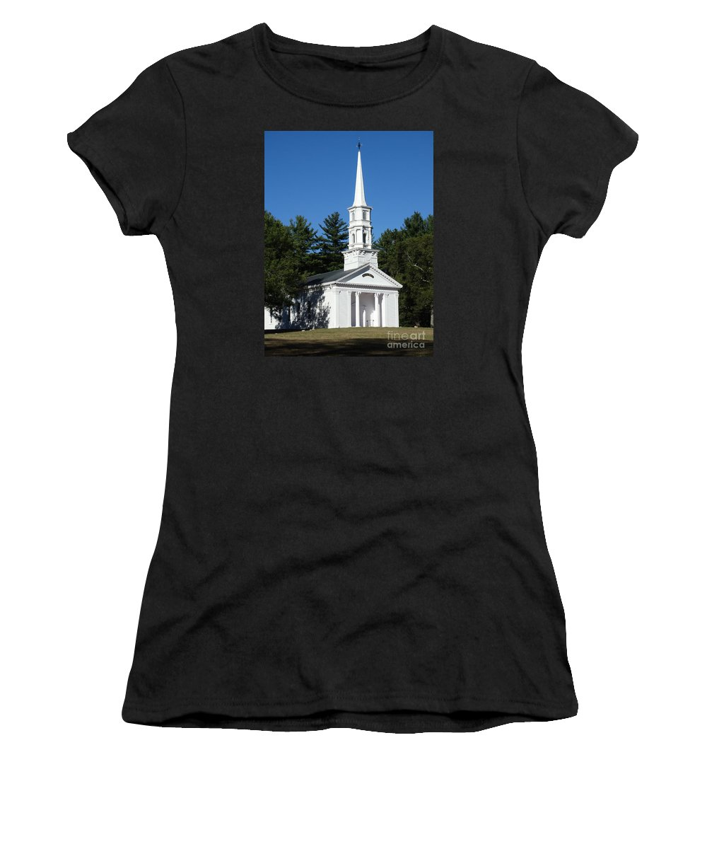Chapel Women's T-Shirt (Athletic Fit) featuring the photograph Martha-mary Chapel by Gina Sullivan