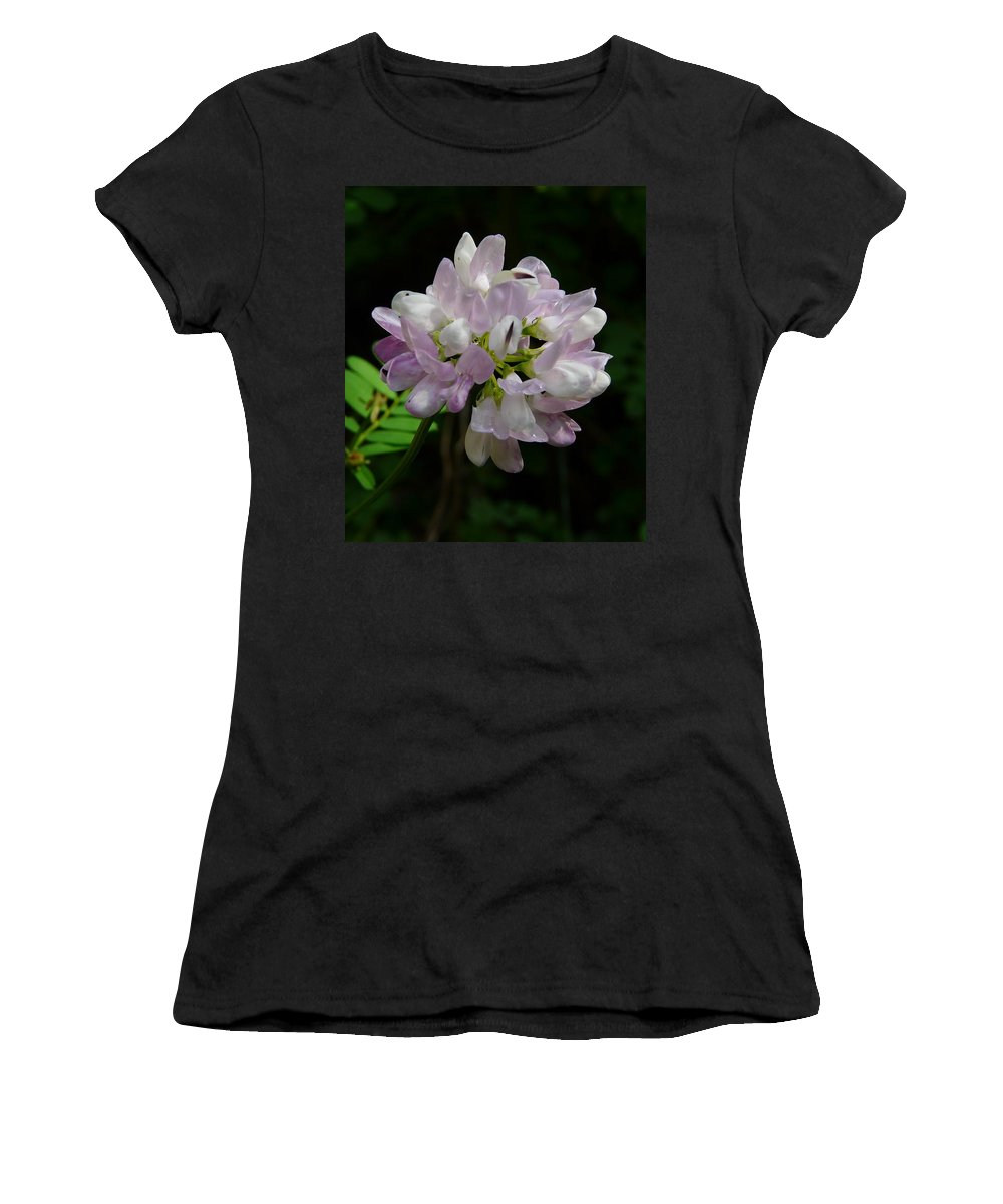Flower Women's T-Shirt (Athletic Fit) featuring the photograph Mauve Flower by Valerie Ornstein