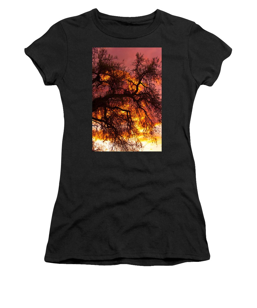 Sunset Women's T-Shirt (Athletic Fit) featuring the photograph May One Sunset by James BO Insogna