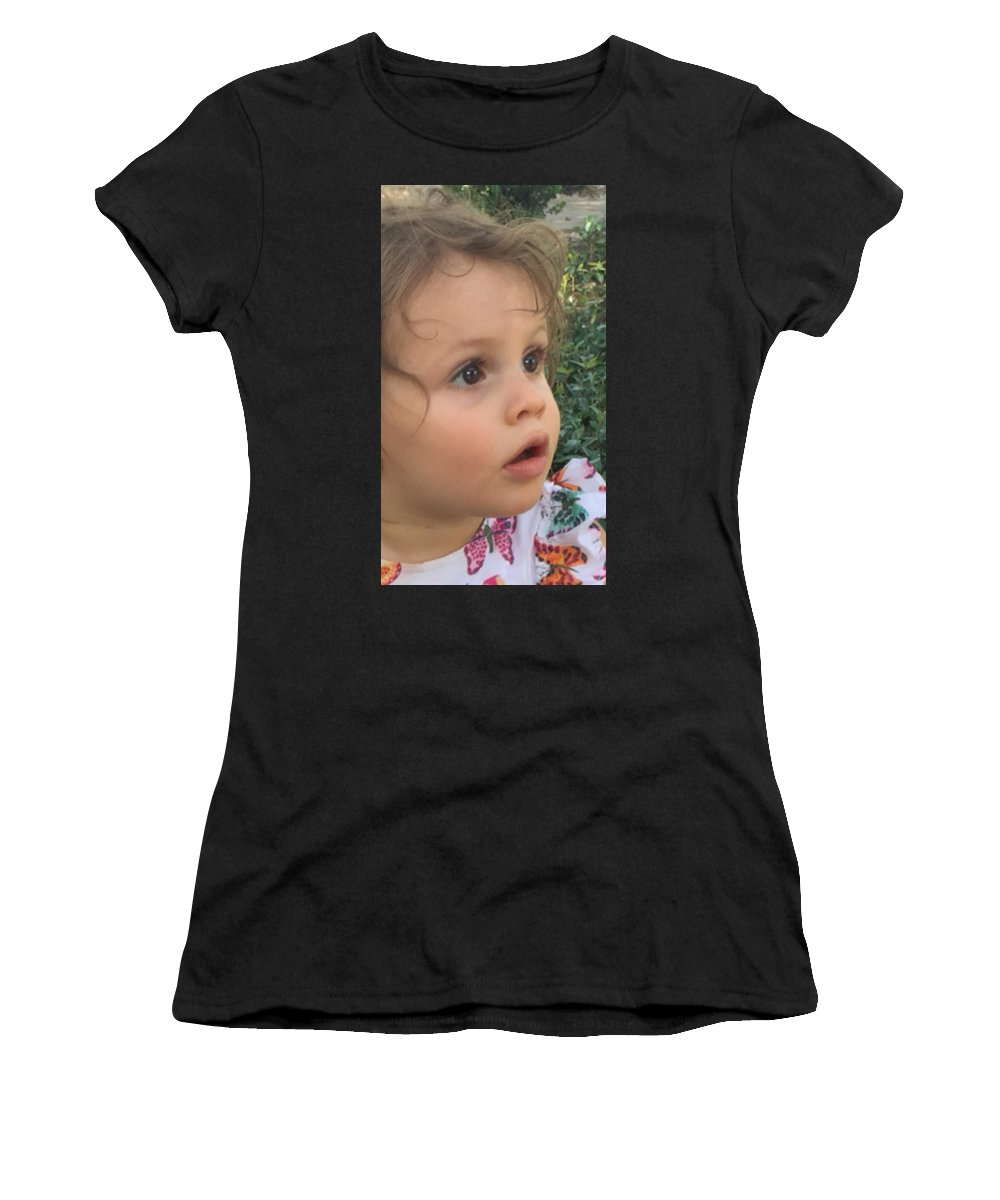 Women's T-Shirt (Athletic Fit) featuring the photograph Maya Pearl by Mary Rose Lam