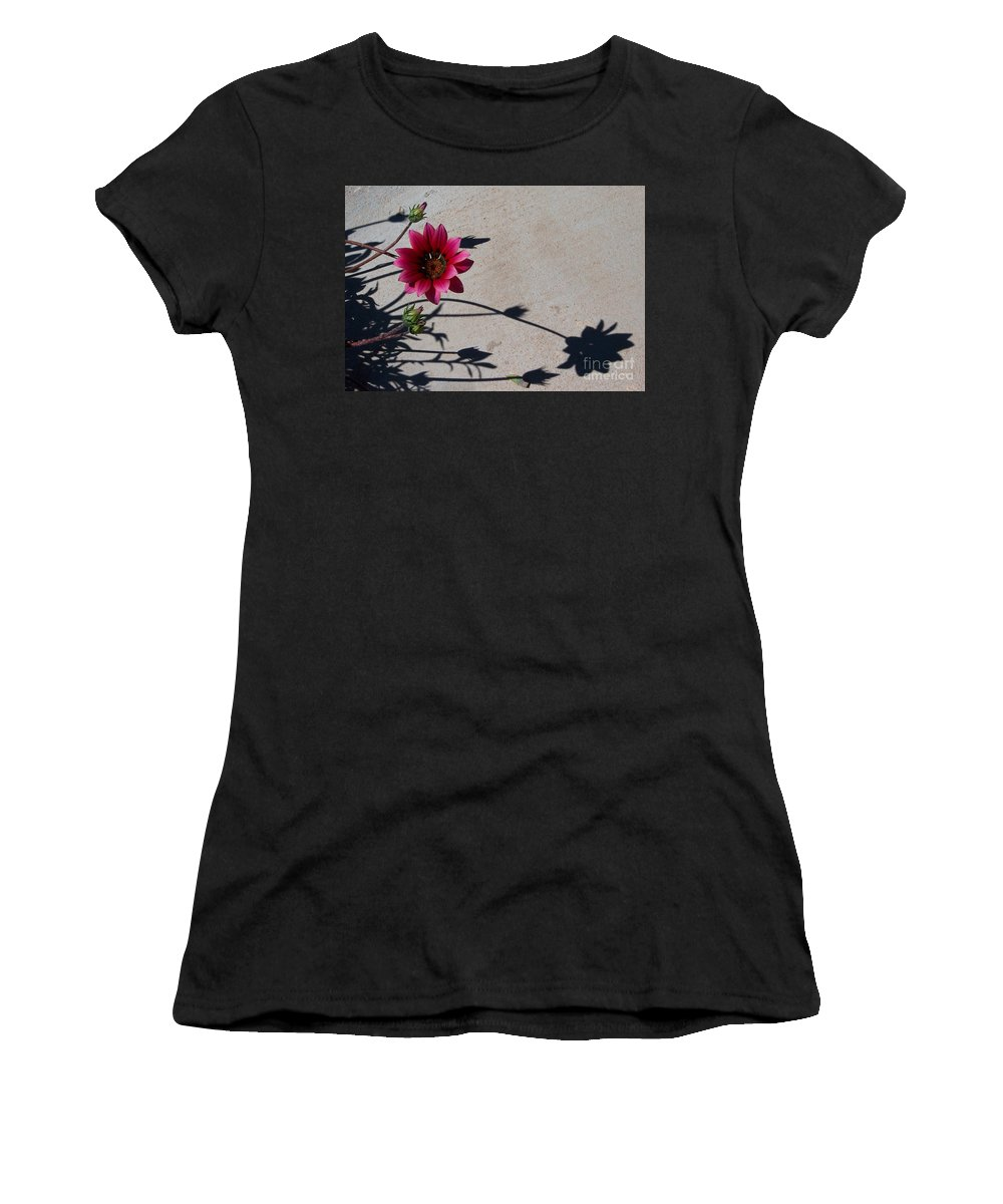 Flowers Women's T-Shirt (Athletic Fit) featuring the photograph Me And My Shadow by Kathy McClure