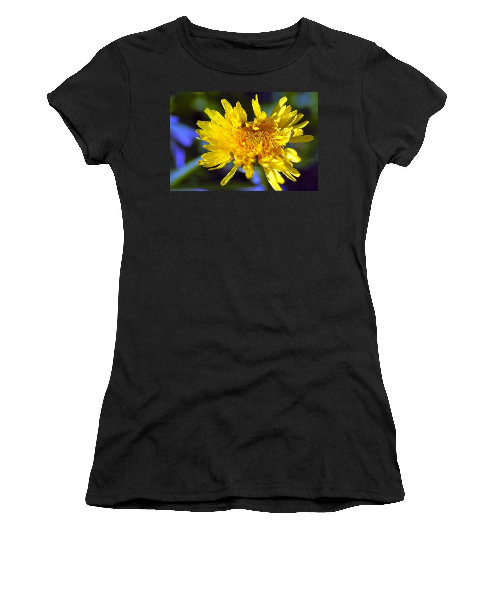 Flower Women's T-Shirt (Athletic Fit) featuring the photograph Mello Yello by Stephen Anderson