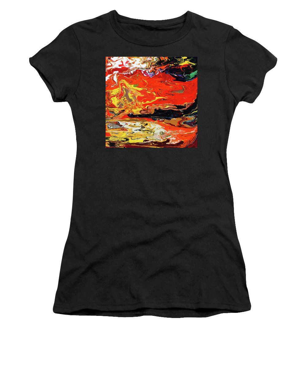 Fusionart Women's T-Shirt (Athletic Fit) featuring the painting Melt by Ralph White