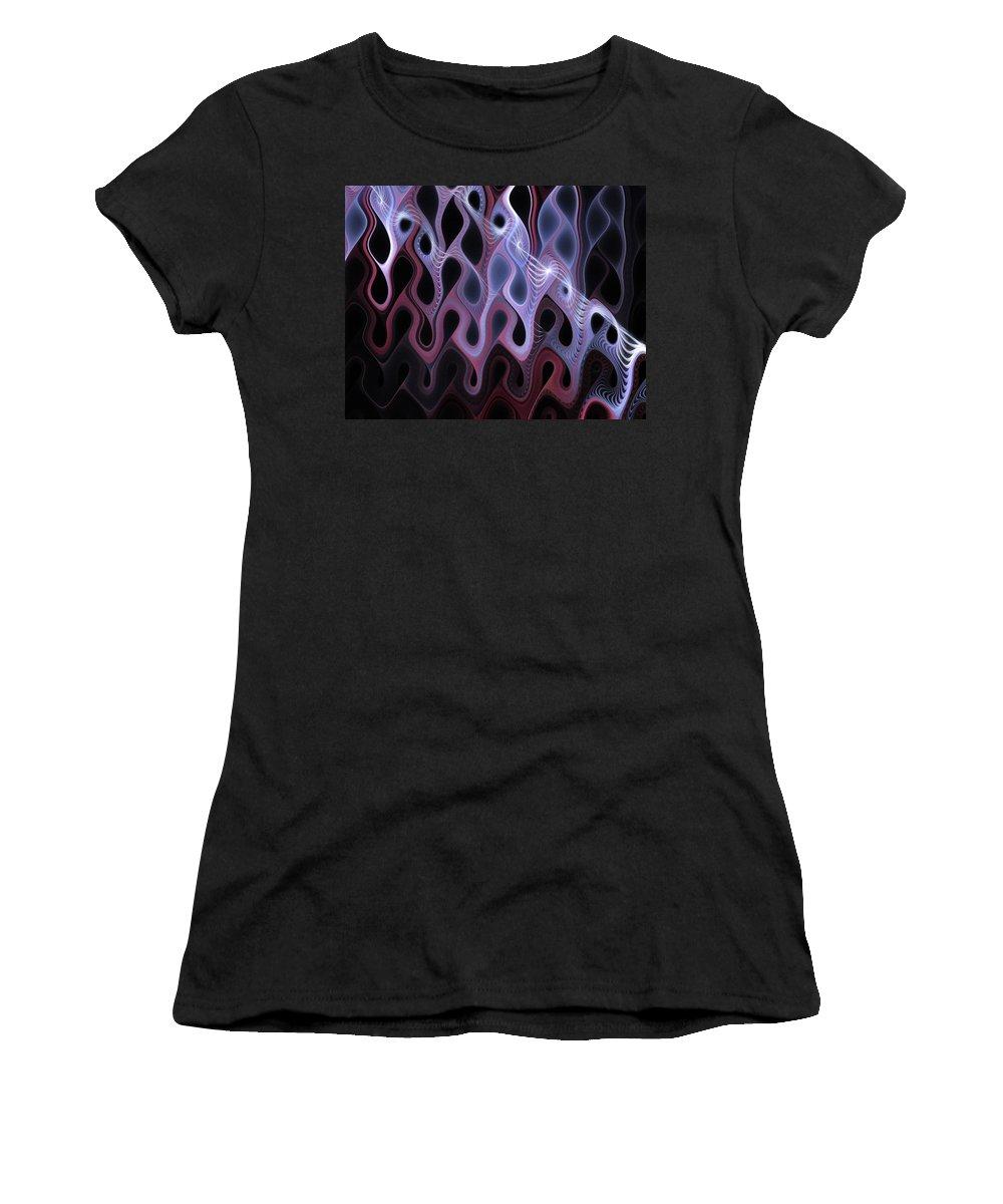Digital Art Women's T-Shirt (Athletic Fit) featuring the digital art Meltdown by Amanda Moore