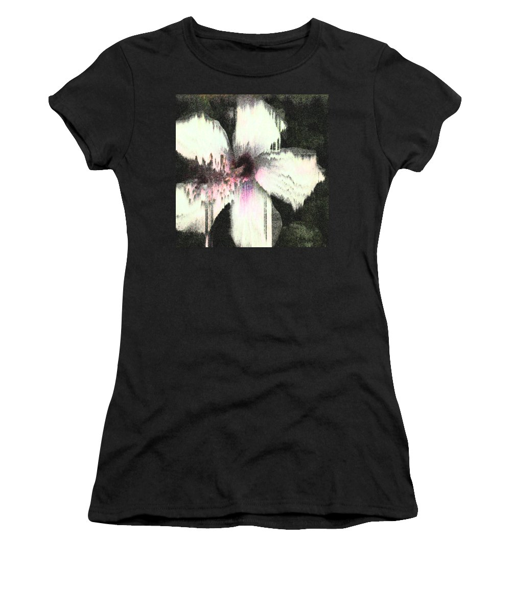 Hibiscus Women's T-Shirt featuring the photograph Melting Hibiscus by Stan Magnan