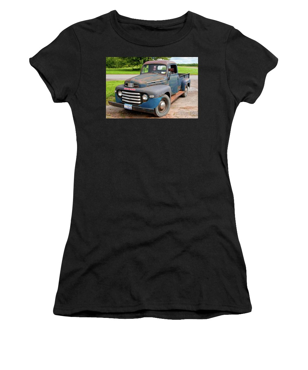 Antique Car Women's T-Shirt (Athletic Fit) featuring the photograph Mercury 2235 by Guy Whiteley