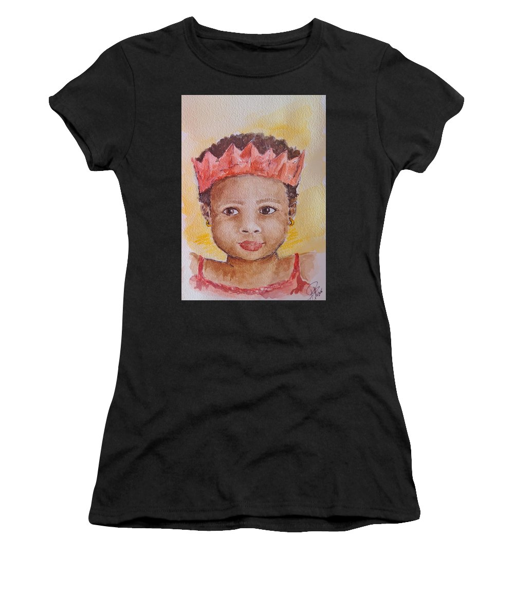 South African Christmas Women's T-Shirt (Athletic Fit) featuring the painting Merry South African Christmas by Kerstin Berthold