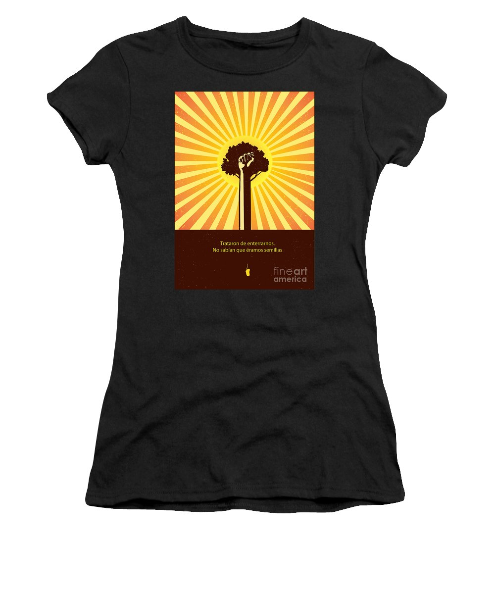 Resist Women's T-Shirt featuring the painting Mexican Proverb by Sassan Filsoof