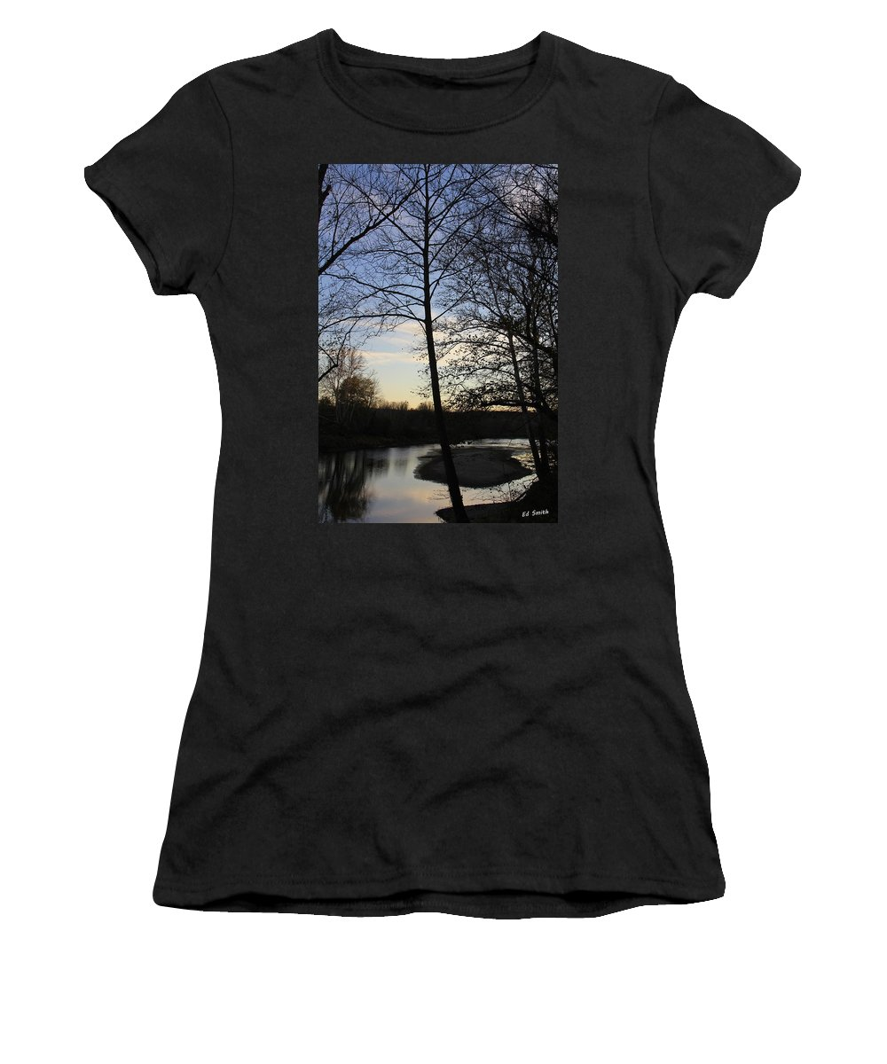 Mill Creek Memories Women's T-Shirt (Athletic Fit) featuring the photograph Mill Creek Memories by Ed Smith