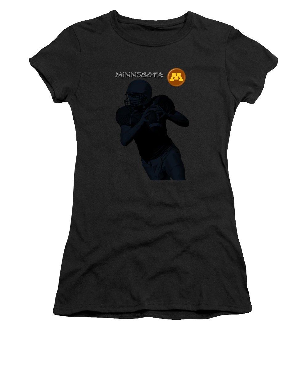Football Women's T-Shirt featuring the digital art Minnesota Football by David Dehner