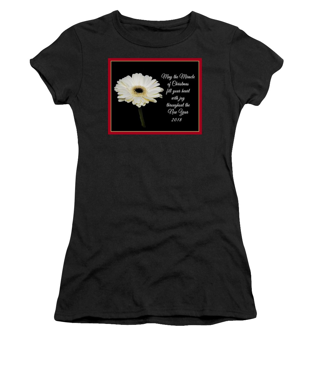 Christmas Women's T-Shirt (Athletic Fit) featuring the photograph Miracle Of Christmas by Connie Mitchell