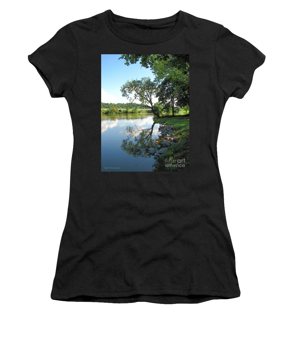 Landscape Women's T-Shirt (Athletic Fit) featuring the photograph Mirror Image by Todd Blanchard