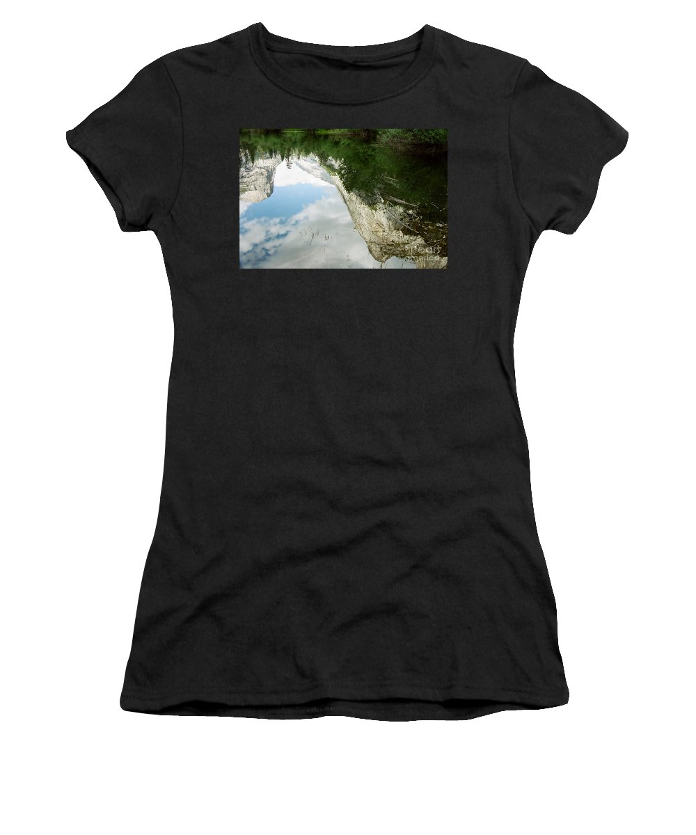 Mirror Lake Women's T-Shirt (Athletic Fit) featuring the photograph Mirrored by Kathy McClure