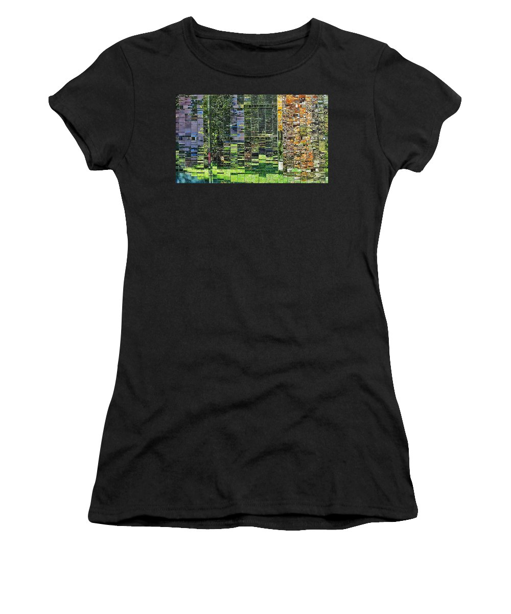 Women's T-Shirt (Athletic Fit) featuring the photograph Mirrored Landscape by Renee Longo