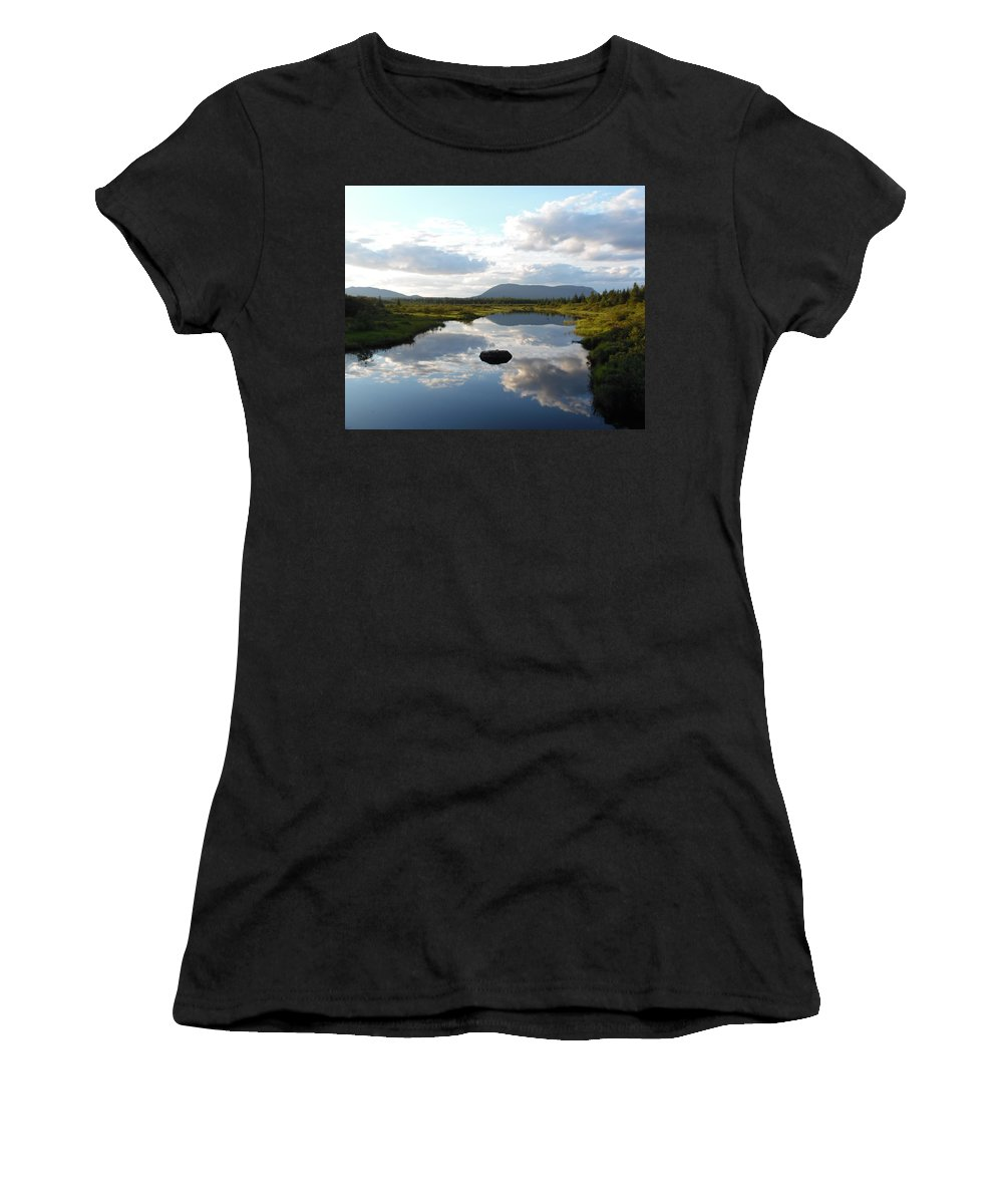Pond Women's T-Shirt (Athletic Fit) featuring the photograph Mirrors by Julie Houle
