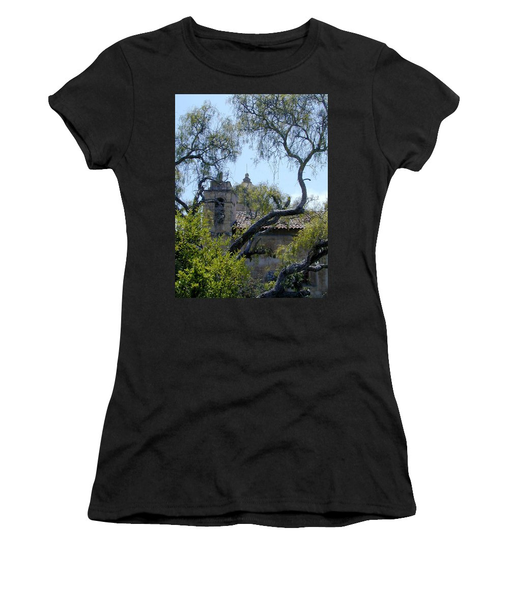Mission Women's T-Shirt (Athletic Fit) featuring the photograph Mission At Carmell by Douglas Barnett