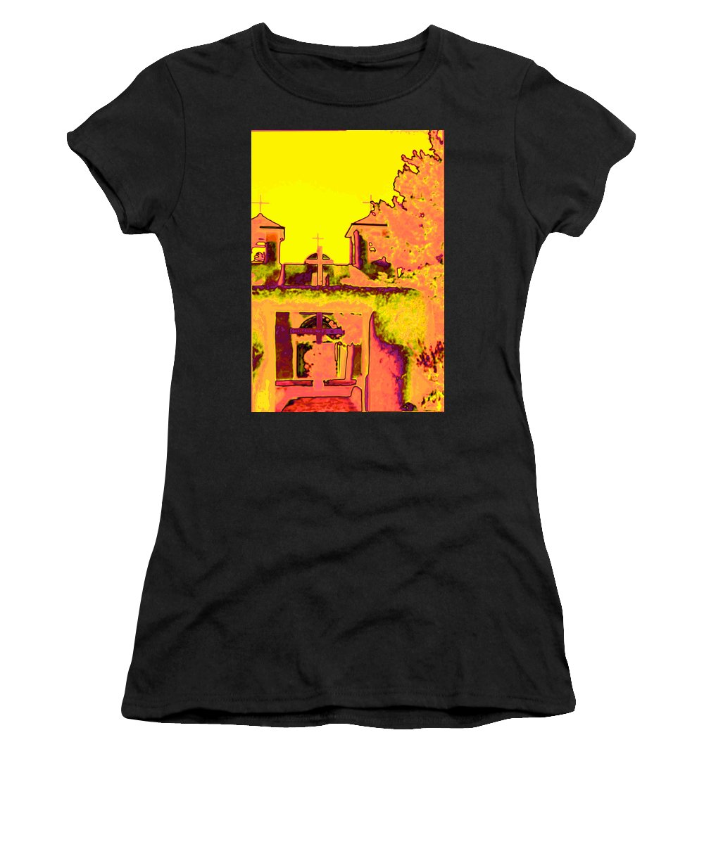 Santa Women's T-Shirt featuring the photograph Mission Pop by Charles Muhle