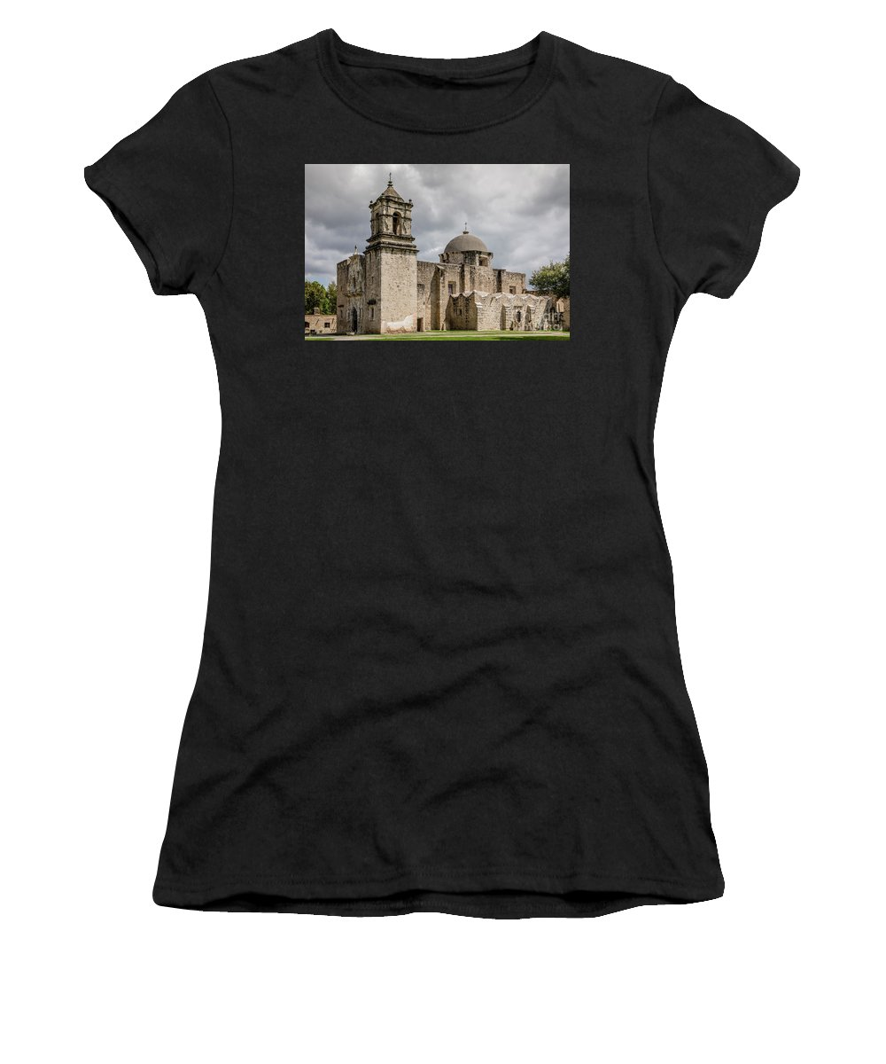 Church Women's T-Shirt (Athletic Fit) featuring the photograph Mission San Jose - 1352 by Teresa Wilson