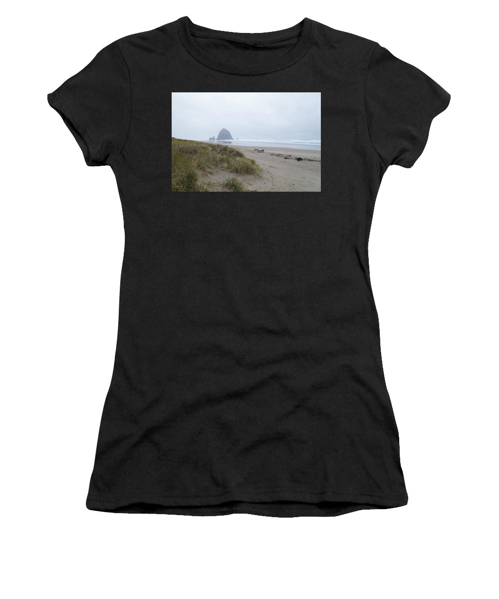 Northwest Beaches Women's T-Shirt (Athletic Fit) featuring the photograph Misty Morning by Michael Selker