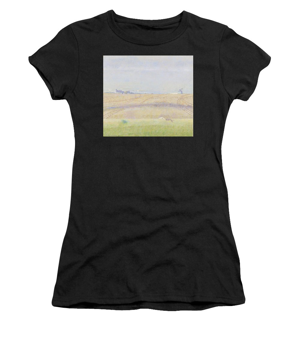 Nature Women's T-Shirt (Athletic Fit) featuring the painting Misty Sea, Jan Toorop, 1899 by Jan Toorop
