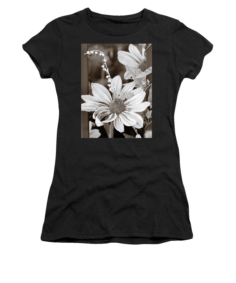 Flowers Women's T-Shirt (Athletic Fit) featuring the photograph Mixed Flowers by Marilyn Hunt