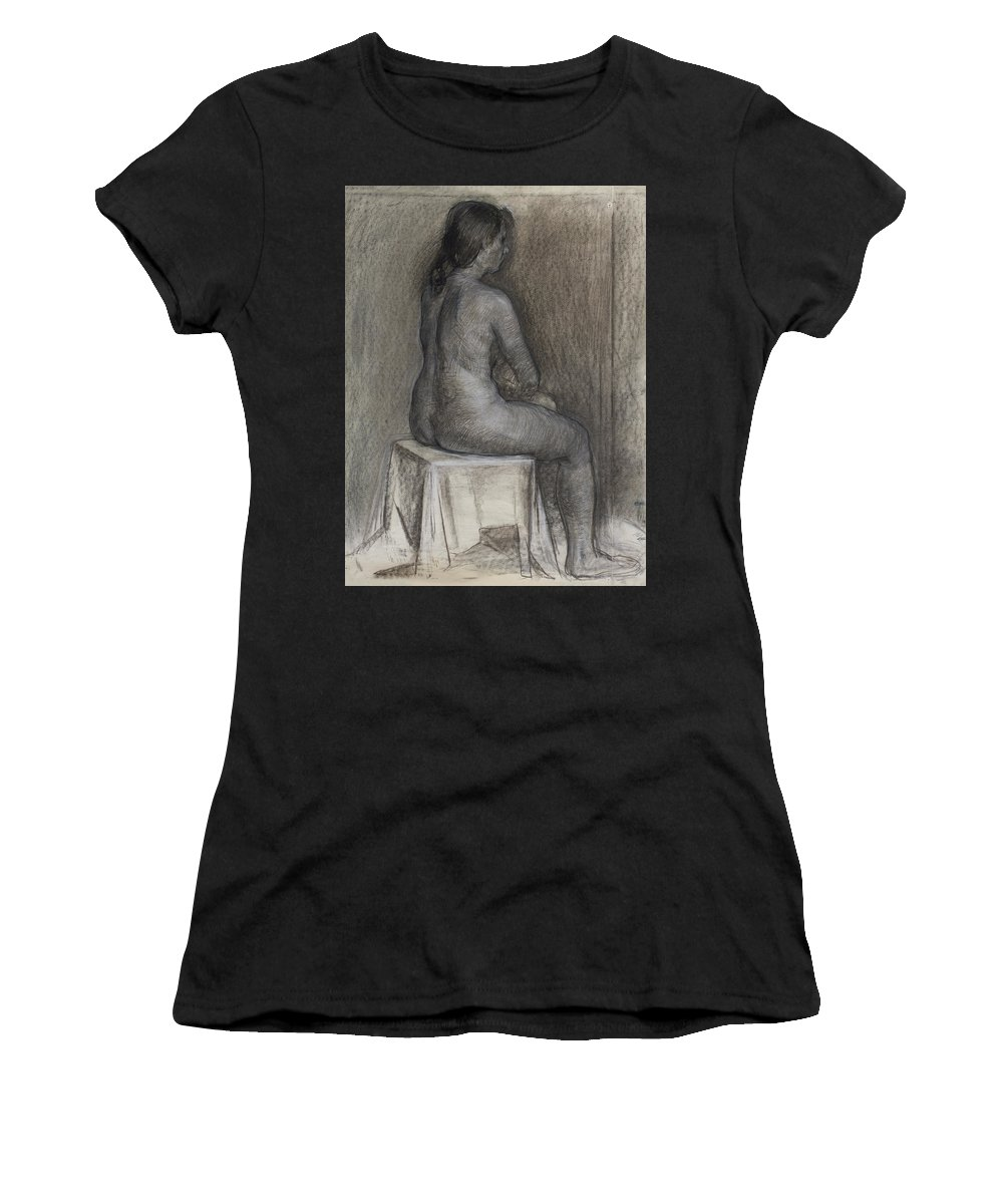 Beauty Women's T-Shirt (Athletic Fit) featuring the painting Model 3 by Robert Nizamov
