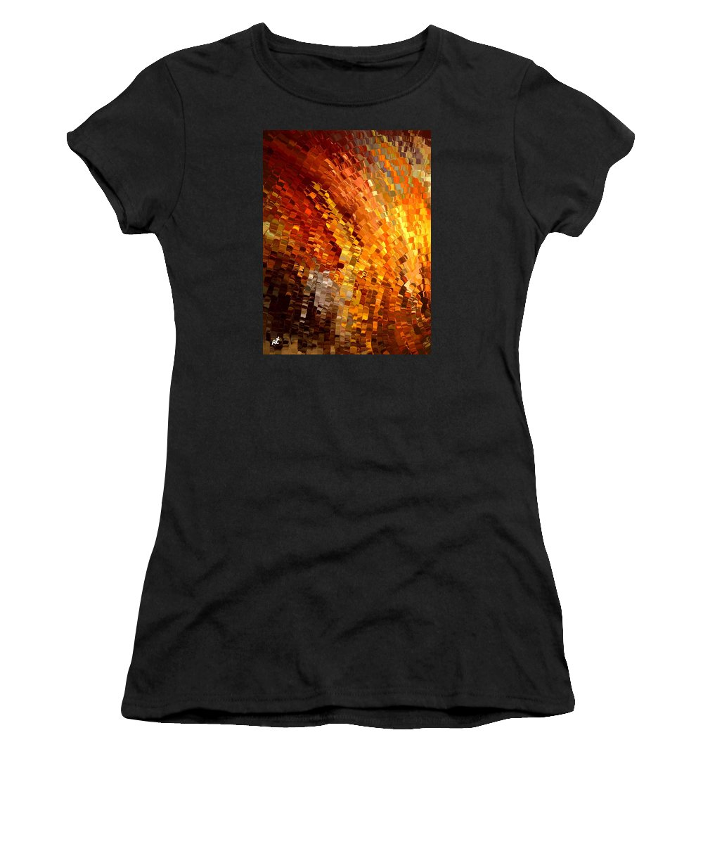 Contemporary Women's T-Shirt (Athletic Fit) featuring the painting Modern Composition 33 by Rafi Talby