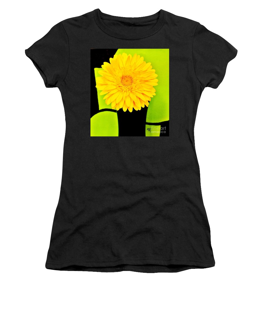 Photo Women's T-Shirt (Athletic Fit) featuring the photograph Modern Gerber by Marsha Heiken