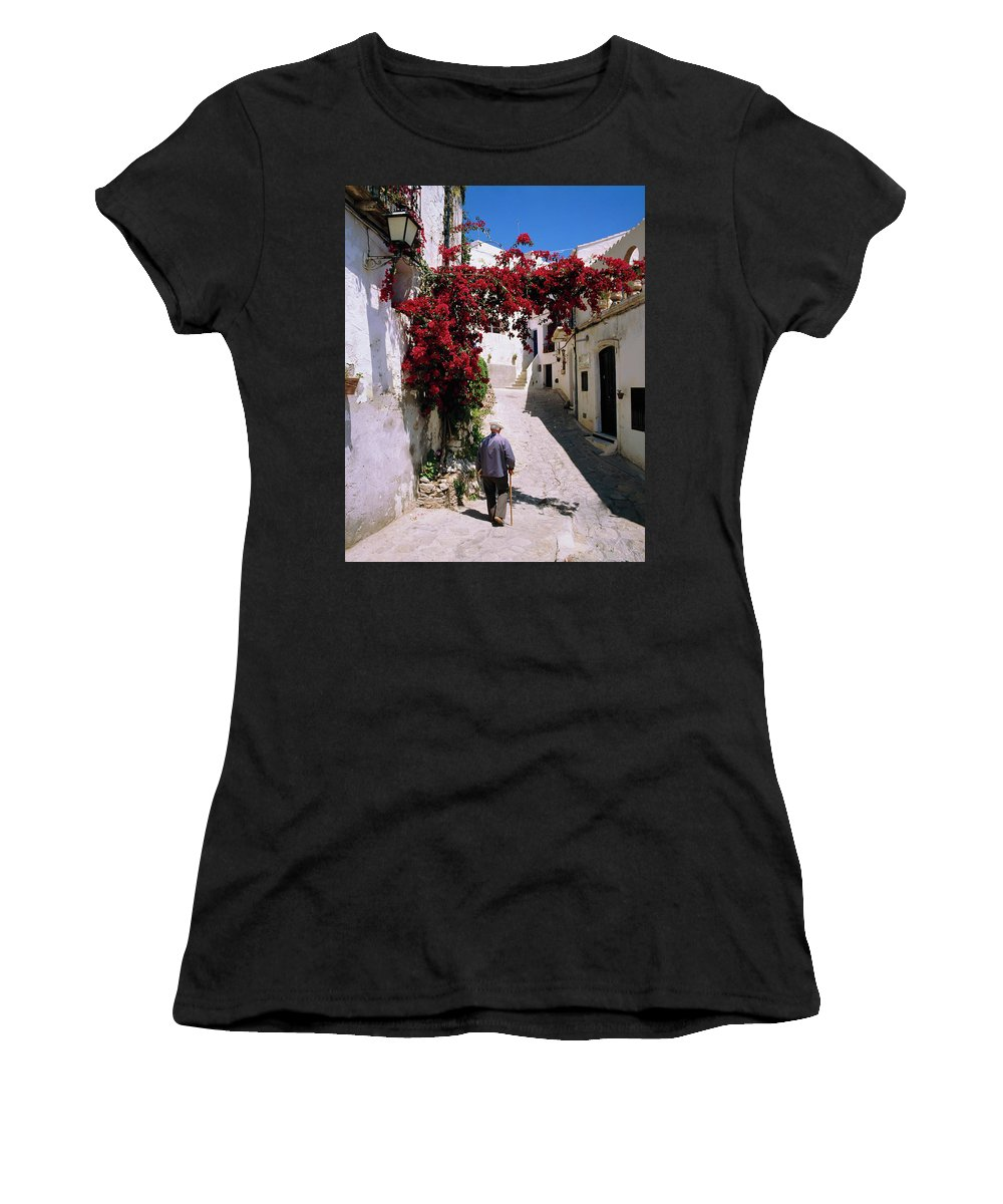 Andalusia Women's T-Shirt (Athletic Fit) featuring the photograph Mojacar,andalusia,spain by Philip Enticknap