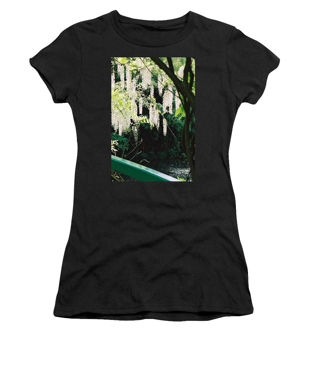 Monet Women's T-Shirt (Athletic Fit) featuring the photograph Monet's Garden Delights by Nadine Rippelmeyer