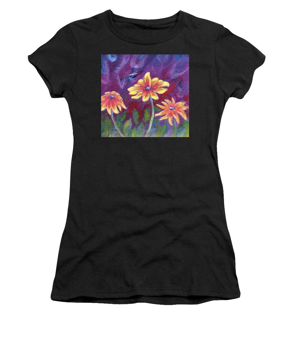 Small Acrylic Painting Women's T-Shirt (Athletic Fit) featuring the painting Monet's Small Composition by Jennifer McDuffie