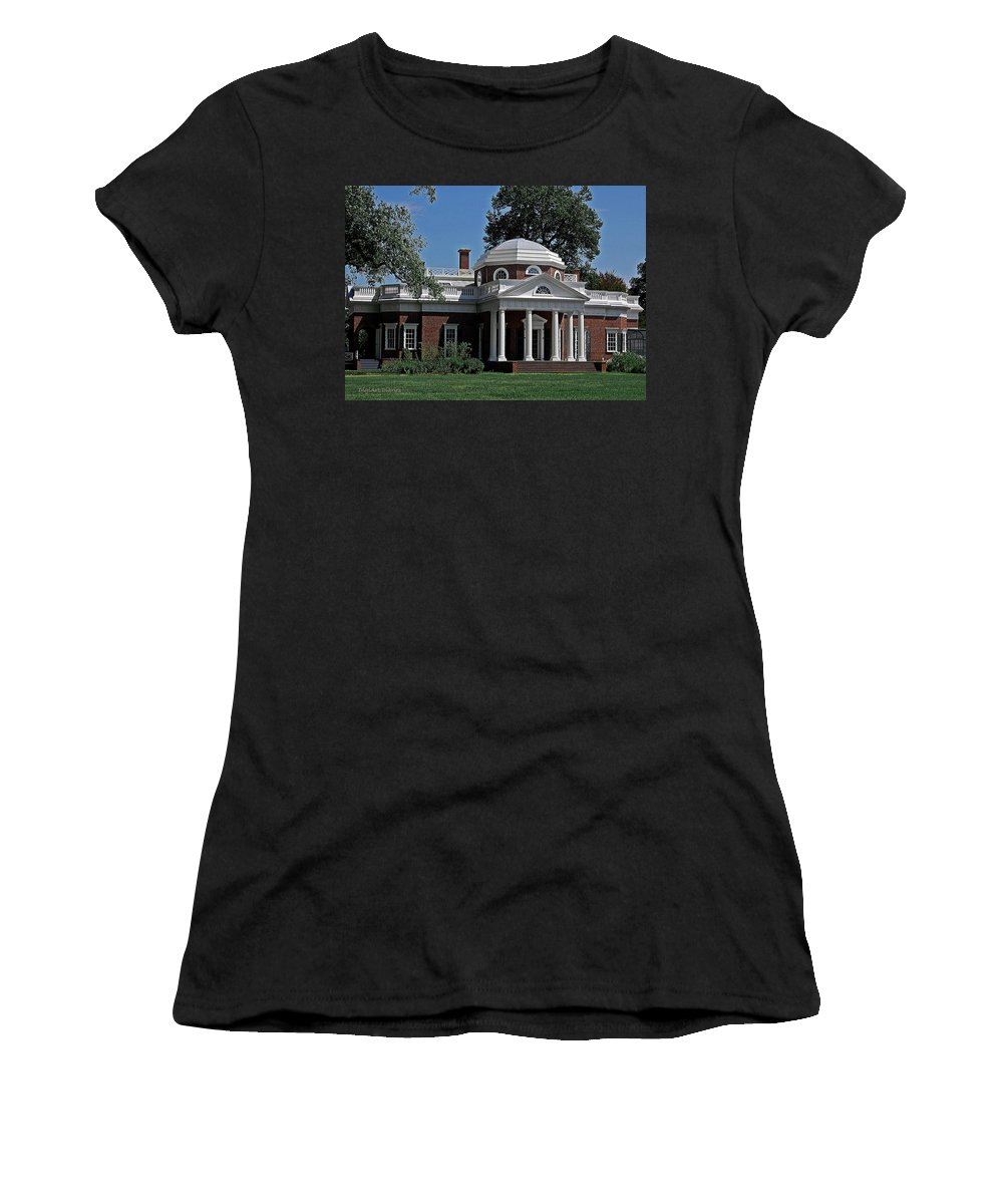 President Women's T-Shirt (Athletic Fit) featuring the digital art Monticello by DigiArt Diaries by Vicky B Fuller